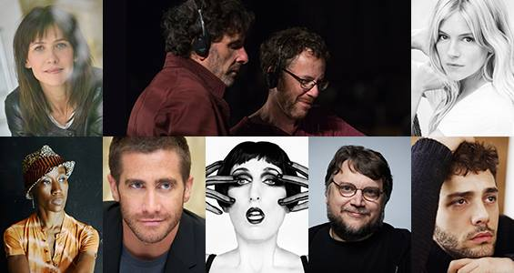 Joel & Ethan Coen – Presidents Rossy de Palma (Actress – Spain) Sophie Marceau (Actress, Director – France) Sienna Miller (Actress – United Kingdom) Rokia Traoré (Composer, Singer-songwriter – Mali) Guillermo del Toro (Director, Writer, Producer – Mexico) Xavier Dolan (Director, Writer, Producer, Actor – Canada) Jake Gyllenhaal (Actor – United States)