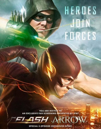 Póster de  crossover de  Arrow y The Flash