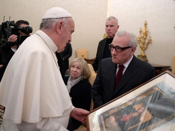 Scorsese con el Papa Francisco