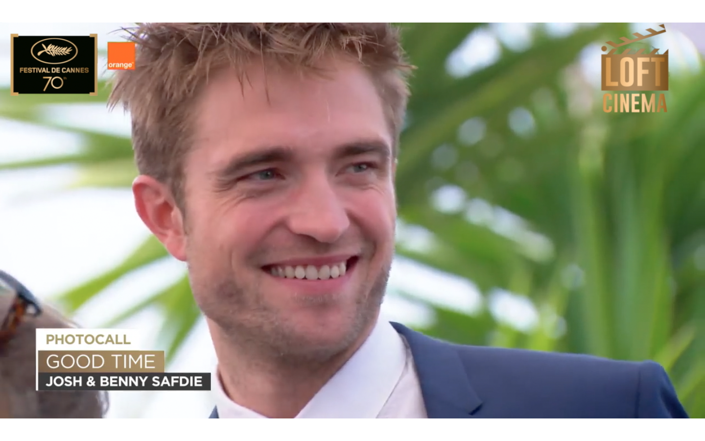 Robert Pattinson en el photocall de la película Good time