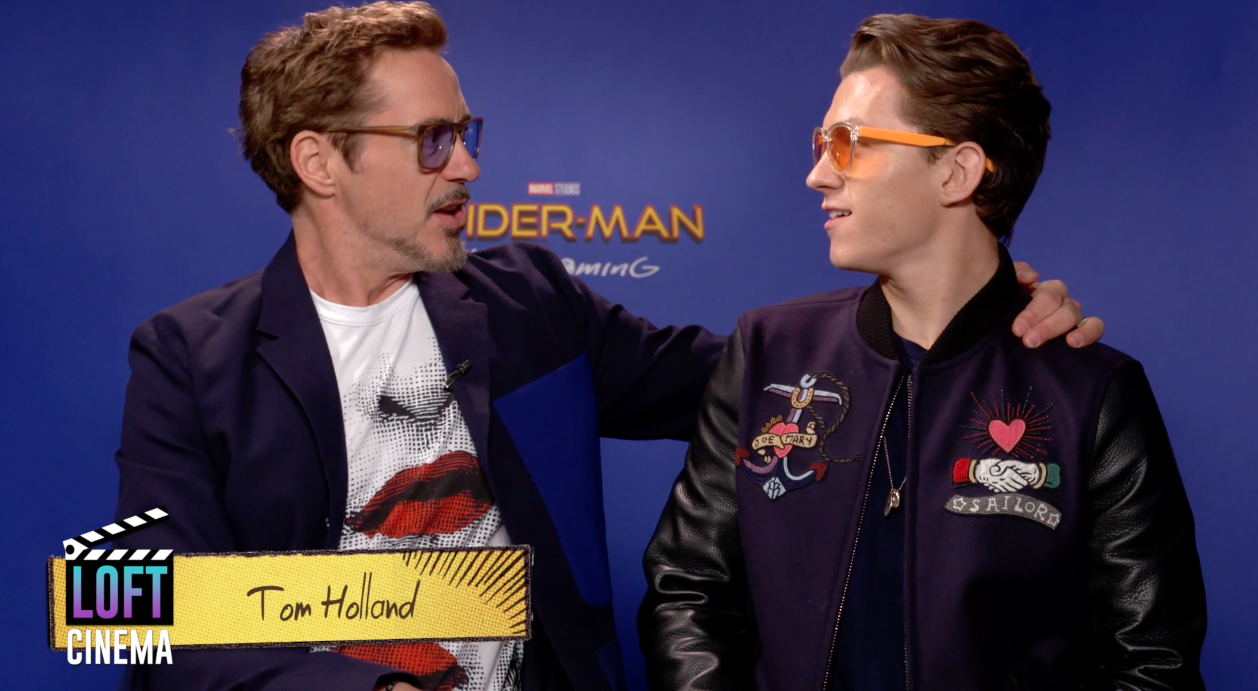 Tom Holland 'crasheo' nuestra entrevista exclusiva con Robert Downey Jr.